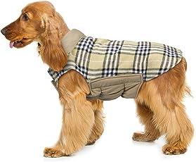 Hund umkehrbar Schottenkaro Mantel Herbst Winter warme gemütliche Weste Britischen Stil Hund gefütterte Jacke für Kleine Mittlere große Hunde