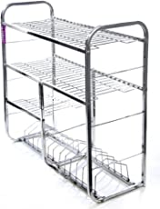 ROYAL SAPPHIRE Stainless Steel Kitchen Stand(24x24-inches, Silver)