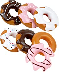 Click N Play Set of 6 Assorted Pretend Play Donuts Set with Removable Icing, Sprinkle Toppings
