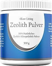 4RawLiving Zeolith Klinoptilolith Pulver | Bio Informiert | Aktiviert Ohne Zusätze Detox 500g Ultrafein - 20µm