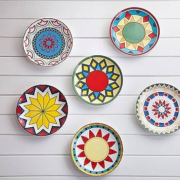Colorful Side Plates Chinese Tableware (All 6 Styles) Amazon.co.uk Kitchen \u0026 Home  sc 1 st  Amazon UK & Colorful Side Plates Chinese Tableware (All 6 Styles): Amazon.co.uk ...