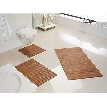 Bambus Badezimmermatte 78,5x50x0,6cm Duschvorleger Holzmatte ...