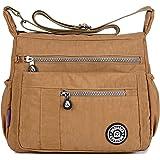 MeCooler Vardaglig axelväska kvinnor axelremsväska lättvikt bokväskor vattentät resa messenger väska för sport damer skolväsk
