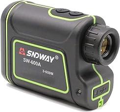 Sndway, Techtest Handheld Monocular Digital Laser Distance Meter Hunting Rangefinder Telescope Golf,600M Power, (SW-600A, Black)