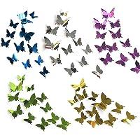 60 pièces d'autocollants muraux papillon miroir 3D, utilisés pour la décoration de chambre d'enfants / filles…