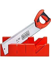 Black + Decker Steel Mitre Box with Saw (Orange)
