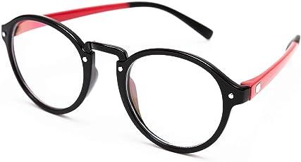 TheWhoop Round Spectacle Frame Eye Glasses For Men Women Boys Girls | Transparent Nightwear Unisex Eyeglass