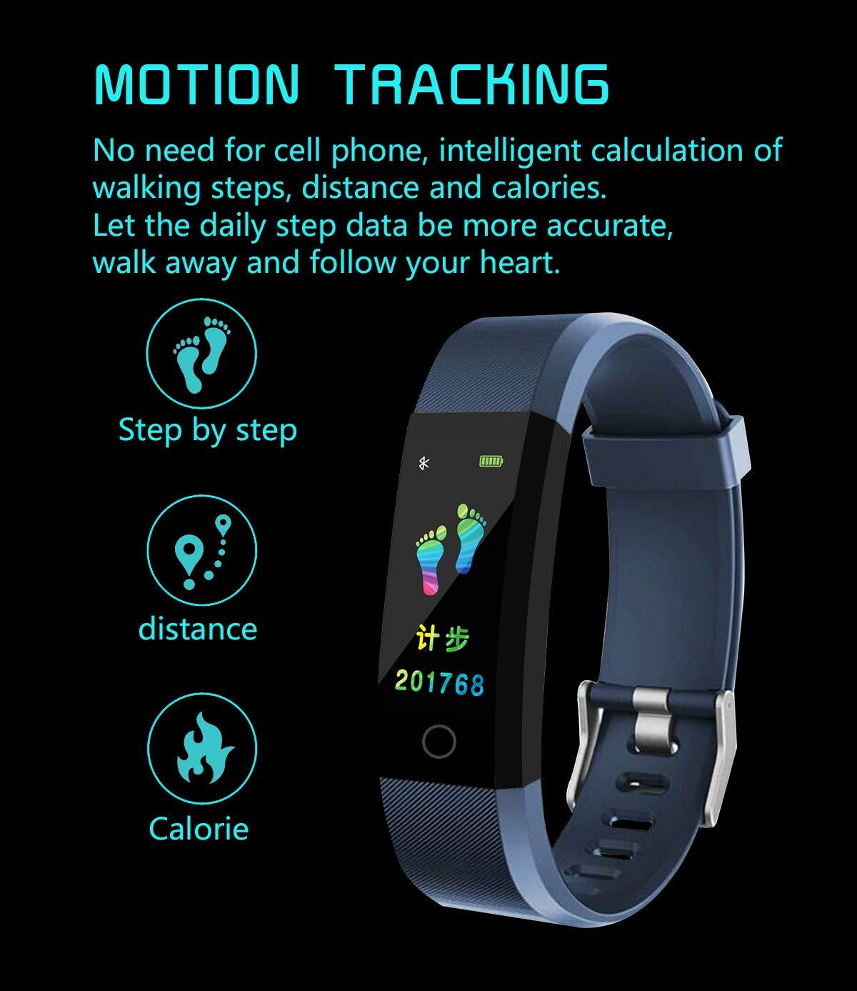 MENGZHEN 1 UNID ID115 Plus Monitor de Actividad del Ritmo cardíaco Pantalla táctil Usable Podómetro Bluetooth Pulsera Inteligente con Monitor de sueño 2