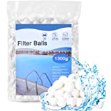 HUTHIM Filterballen voor Zandfilterinstallaties, 1300g Filterballen, Kunnen 46 kg Filterzand Vervangen, Geschikt voor Zwembad