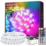 KSIPZE LED Strip 20m RGB Farbwechsel LED Lichterkette LED Band Stripes Mit 44 Tasten Fernbedienung und Netzteil LED Streifen