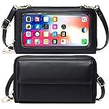 FXLOYR Handytasche zum Umhängen Damen Geldbörse RFID Schutz Handy Geldbeutel Umhängetasche Damen Klein Touchscreen Handytasch