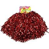 Schnoschi 2 Stück Pompons Cheerleading Cheerleader Tanzwedel Puschel 1 Paar viele Farben