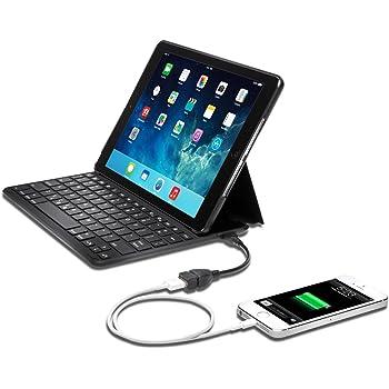Kensington K97389DE Keyfolio ThinX3 in schwarz für Apple iPad Air 2