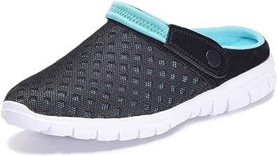 Femmes Hommes Sabots Mules Respirant Chaussures de Jardin Perforés-Sabot de Plage Sport Pantoufles Piscine Sandales D'Été Chaussures