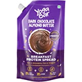 Yogabar Almond Butter | Dark Chocolate | Keto Choco Spread with Whey Protein, Iron & Magnesium | Bread Spread Made with 100%