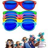 LATERN 6 Piezas Jumbo Gafas De Sol De Plástico De Colores Jumbo Gafas para Traje De Playa Vestido De Lujo Foto Apoyos Suminis