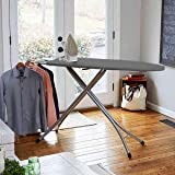 Zemic International Quality Large Folding Ironing Board/Iron Table Stand with Press Holder, Foldable & Height Adjustable with