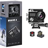 AKASO Brave 4 4K WiFi Action Camera 20MP Ultra HD with EIS 30m Underwater Waterproof Camera Remote Control 5X Zoom Video Camc