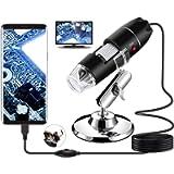USB Digital Microscope, Bysameyee Handheld 40X-1000X Magnification Endoscope, 8 LED Mini Video Camera for Windows 7/8/10…