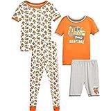 منامات Only Boys Snug-Fit - مجموعة من 4 قطع ملابس نوم وسروال قصير الأكمام