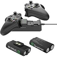 Smatree Caricabatterie Doppia stazione di ricarica con 2 batteria ricaricabile per Xbox One / Xbox One S / Xbox One X…
