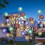 Luces solares de jardín, KagoLing Decorativa Iluminación Impermeable solar Exterior Lámpara de Jardín para decoración de jard