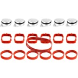 TAKPART 6 x 33 mm Swirl Flap Replacements Removal Blanks Manifold Gaskets
