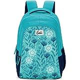 Genie Snowflake 36 Litres Teal & Blue School Backpack (19 inch, Water resistant)