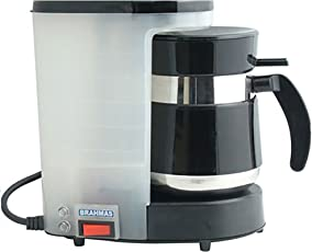 BRAHMAS COFFEE MAKER WITH FREE 2 STAINLESS STEEL TUMBLER…