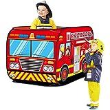 Haehne Enfants Jouer Tentes, Apparaitre Intérieur De Plein air Jouet cabane Facile Plier, Camion de Pompier Voiture Conceptio