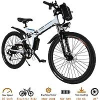 fiugsed Elektrofahrrad Mountainbike 26 Zoll E-Bike 36V, 250W Das-Kit Heckmotor, Elektrofahrräder mit 21-Gang…