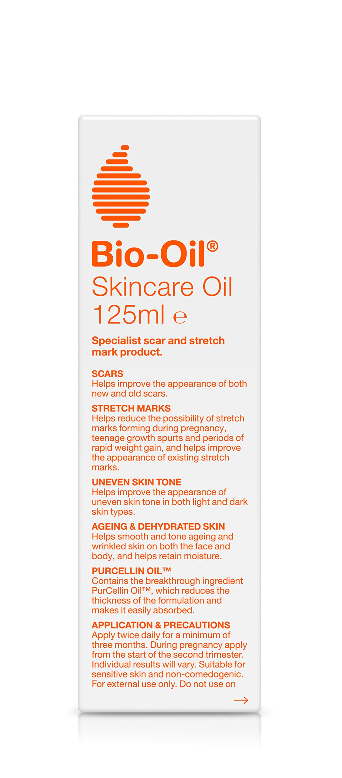 Bio-Oil Skincare Oil – Improve the Appearance of Scars, Stretch Marks and Skin Tone – 1 x 125 ml