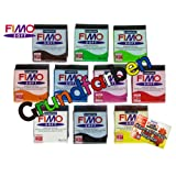 Staedtler Fimo Knete Soft Classic & Effect Modelliermasse 10 Blöcke a 56g ofenhärtend (Grundfarben Soft)