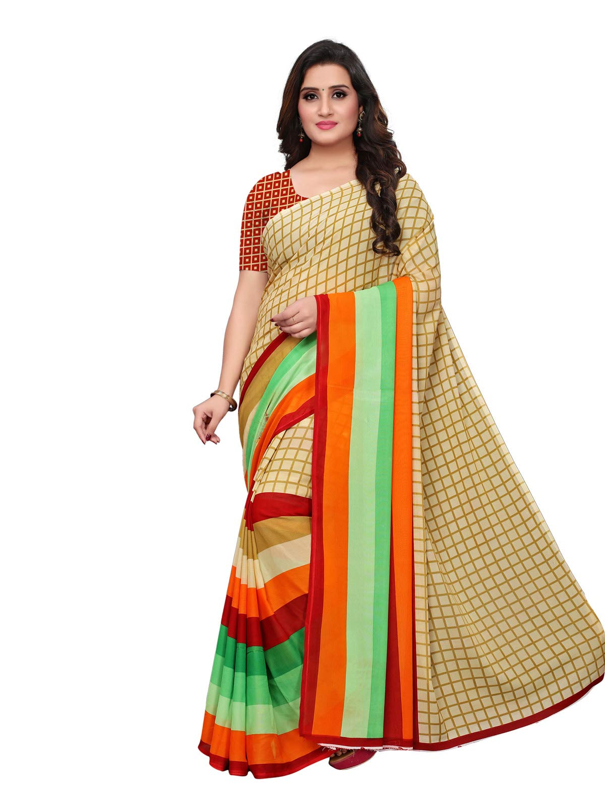 Kanchnar Women's Georgette Daily Wear Saree