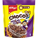 Kellogg's Chocos Moons & Stars, with Whole Grain, Source of Fibre, High in Calcium & Protein, with 10 Essential Vitamins & Mi