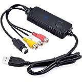 Ruibo Sike Enregistreur Convertisseur De Vidéo / Audio - Boîtier D'acquisition/Carte De Capture Video VHS - Video Capture USB Pour Mac OS 10.12 & Windows 10