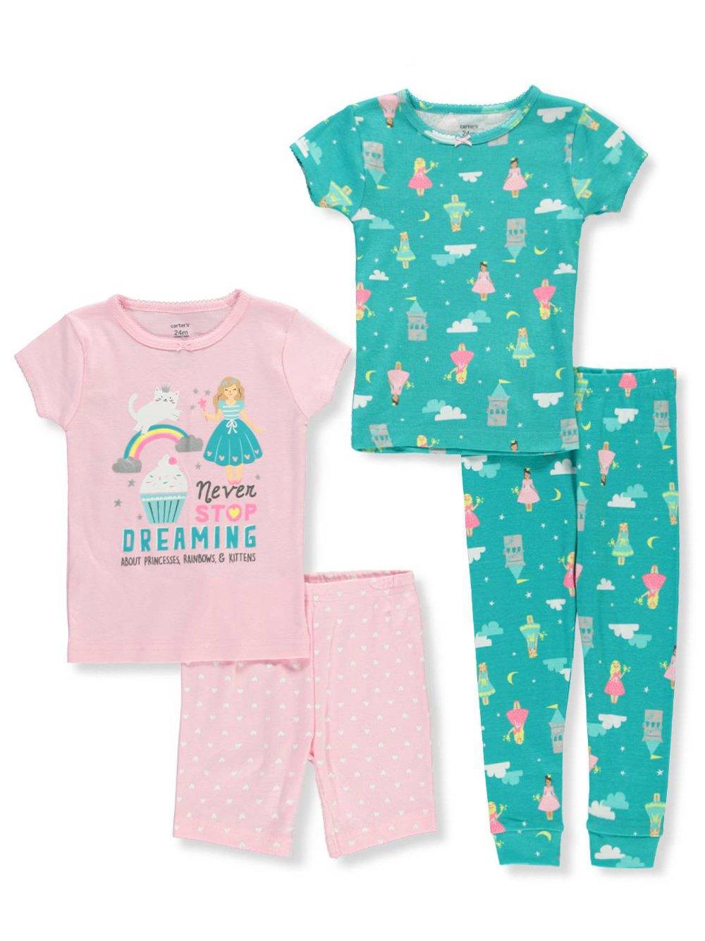 Carter's 6m 12 pijama de ciencia de 4 piezas para bebé-niñas 1