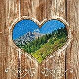 20 Servietten Alpine Country – Alpenland / Bayern / bayrisch / Oktoberfest 33x33cm