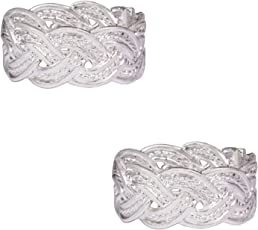 PinkCityRetailer German Silver Free Size Toe Ring for Women (USTR-104)