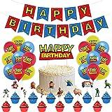 32 Piezas Toy Story Party Supplies ZSWQ-decoración de fiestas, incluye pancarta de globo, pastel y cupcakes, decoración para