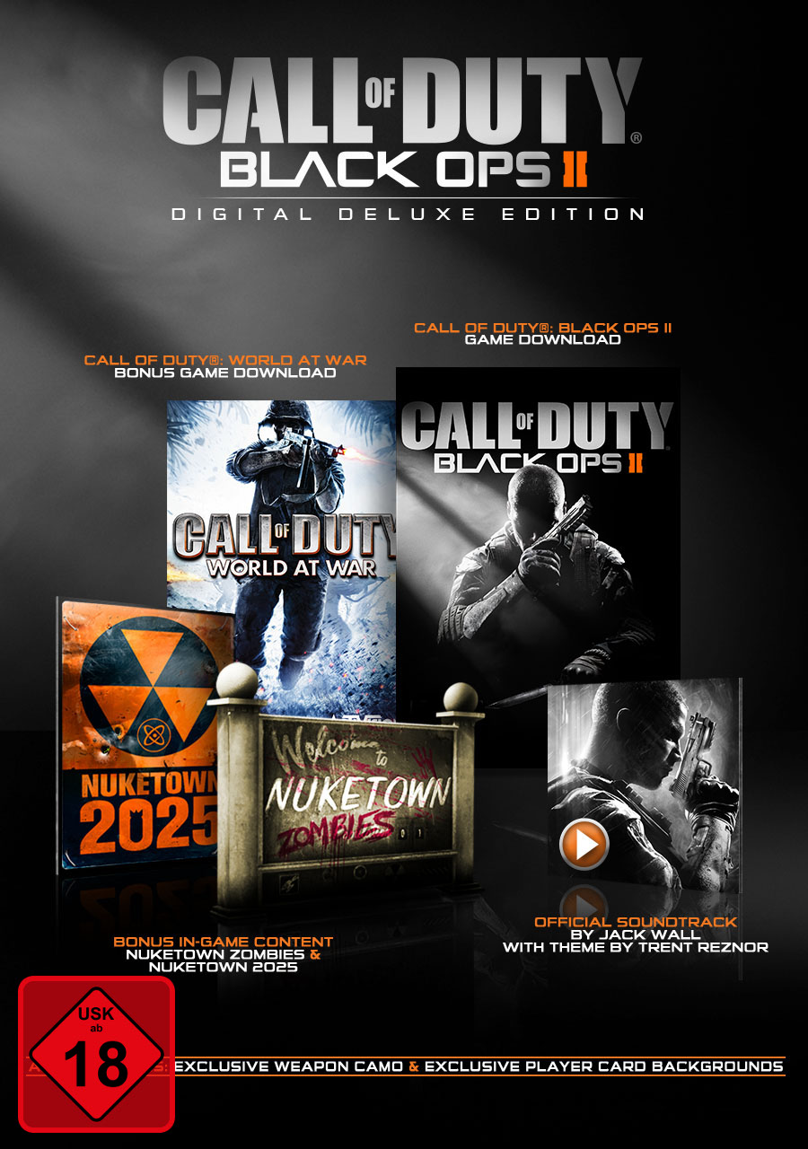 Zombies-black Ops 2 (Call of Duty: Black Ops II Digital Deluxe Edition [PC Code - Steam])