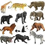 Mini Dierenfiguren Set Achort 12 Stuks Safari Dieren Speelgoed Kleine Dierentuindieren Cijfers Realistisch Wild Dier Speelgoe