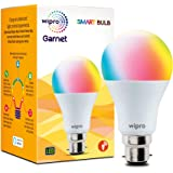 Wipro WiFi Enabled Smart LED Bulb B22 9-Watt (16 Million Colors + Warm White/Neutral White/White) (Compatible with Amazon Ale