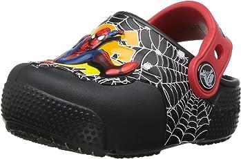 crocs Boy's Crocsfunlab Lights Spiderman Clogs