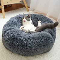 Wuudi, cuccia per cani, cuccia per gatti, 50 cm, rotonda, per cani e gatti, cuccia per cani di piccola taglia (grigio…