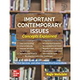 Important Contemporary Issues: Concepts Explained | First Edition