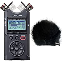 Tascam DR-40X Stereo Audio-Recorder mit Interface-Funktion + keepdrum Fell-Windschutz