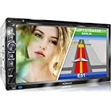 XOMAX XM-2DN6906 autoradio met Mirrorlink I GPS-navigatie I navigatiesoftware incl. Europe maps I Bluetooth handsfree kit I 1
