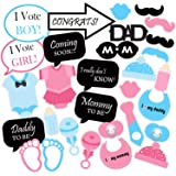 SYGA Baby Shower Party Photo Booth Props (Set of 30)