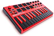 Akai Professional MPKMINI2RED MPK Mini MKII Portable USB Compact Keyboard and Pad Controller - Limited Edition Red